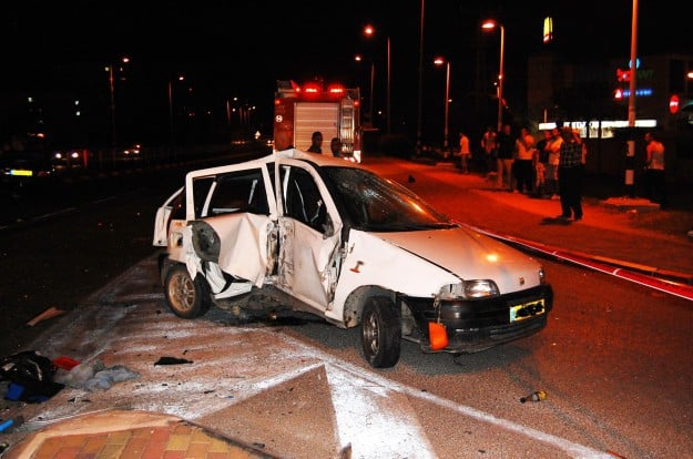 רכבה של ברקת לאחר התאונה