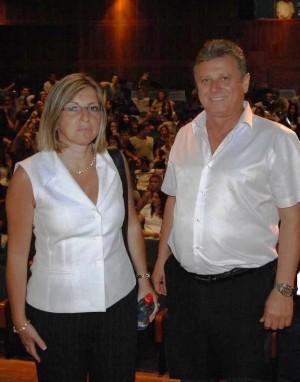 ראש העירייה חיים איבטן ומנהל אגף החינוך, חני וייצמן