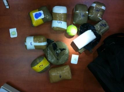 סמים שנתפסו (צילום: דוברות מחוז צפון)