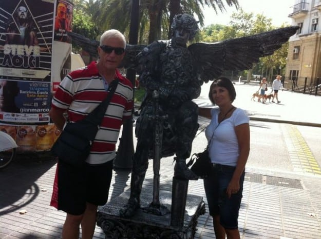 """היו בסופר קאפ. עו""""ד טליה שקולניק ובן זוגה בחופשה ספרדית"""