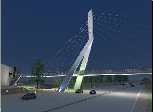 גשר המיתרים - הדמיה