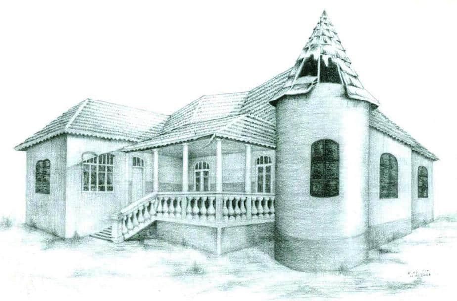 בית גורביץ. רישום מתוך התערוכה