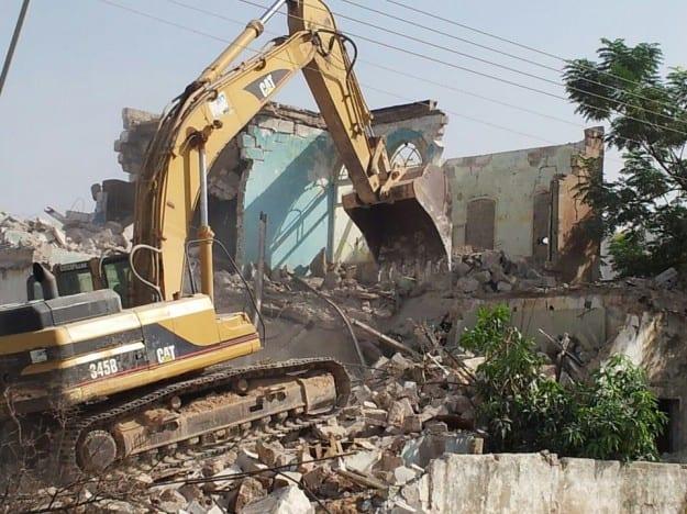 הריסת מבנה בעכו במסגרת תרגיל רעידת אדמה