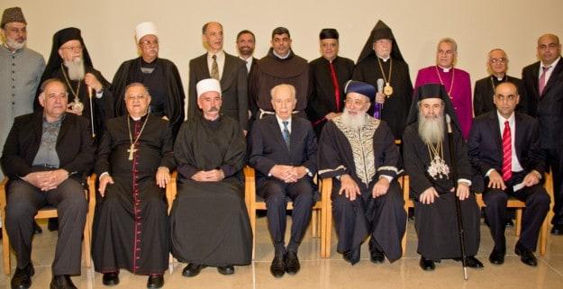 ראשי הדתות עם הנשיא שמעון פרס