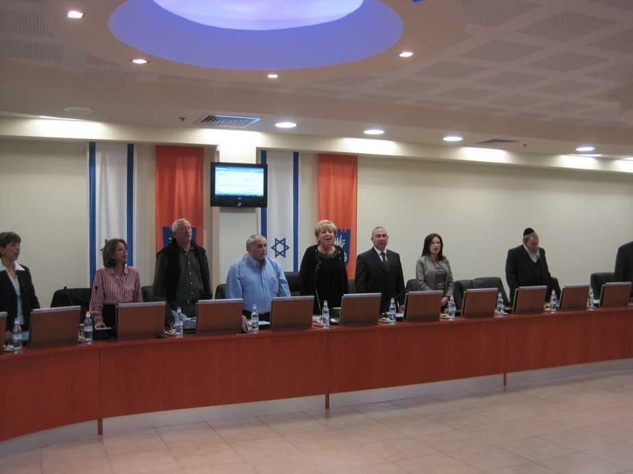 מועצת העיר בנתניה (צילום: רותי ברמן)
