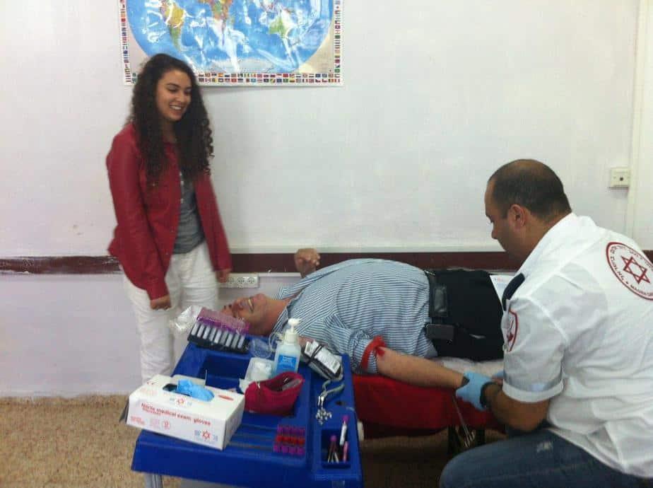 אירוע התרמת דם למען הנער החולה בסרטן הדם