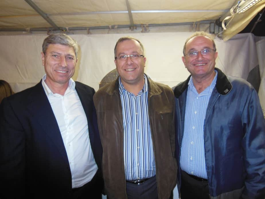 ראשי הערים: שמואל סיסו, אלי דוקורסקי ויעקב פרץ