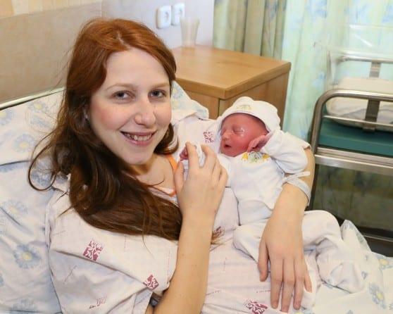 יוליה בירגר ובנה הטרי