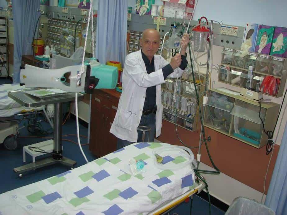 """ד""""ר אריה אייזנמן  (צילום: רוני אלברט, בית חולים נהריה)"""