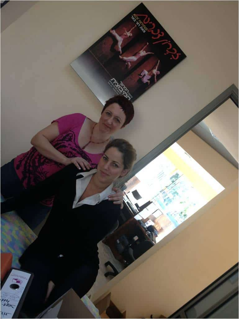 המטפלת אולגה ועובדת התיאטרון  (צילום: עינת בן זכאי)