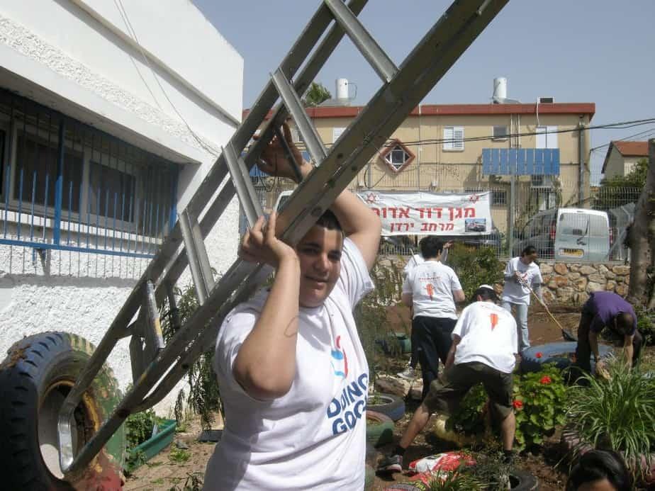 """מתנדבי מד""""א ירדן ביום המעשים הטובים, צילום דוברות מד""""א"""