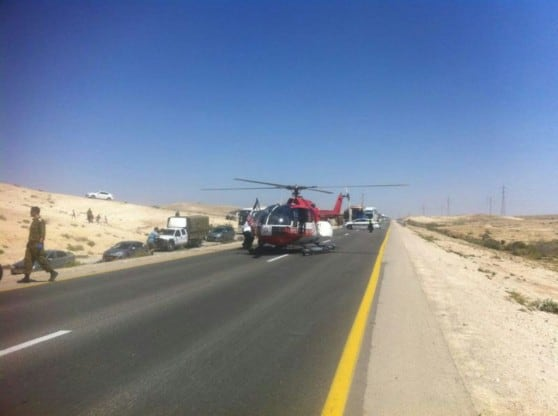 תאונה קטלנית בצומת הנגב - צילום תיעוד מבצעי מדא
