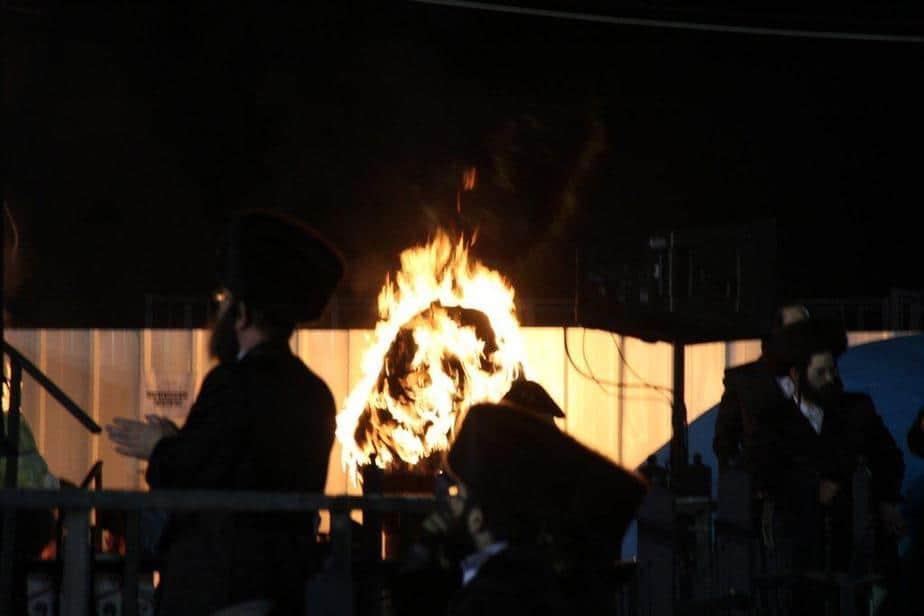 """הילולת הרשבי במירון - לג בעומר 2013 (צילום: דוברות מד""""א )"""