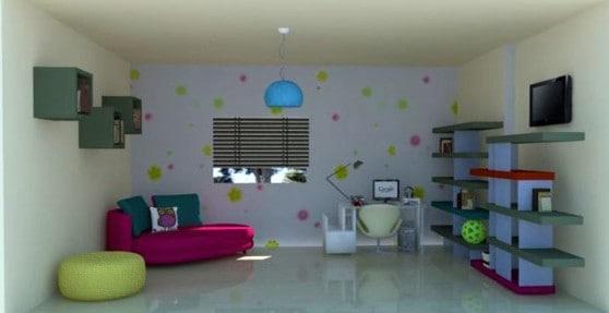 חדר משפחה. עיצוב של ויקי בן טל