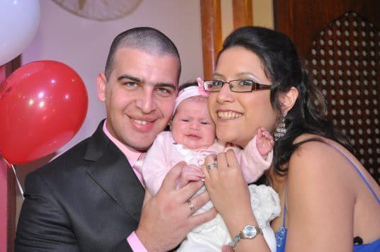 משפחת קרן עם הבת אליס- ליזי
