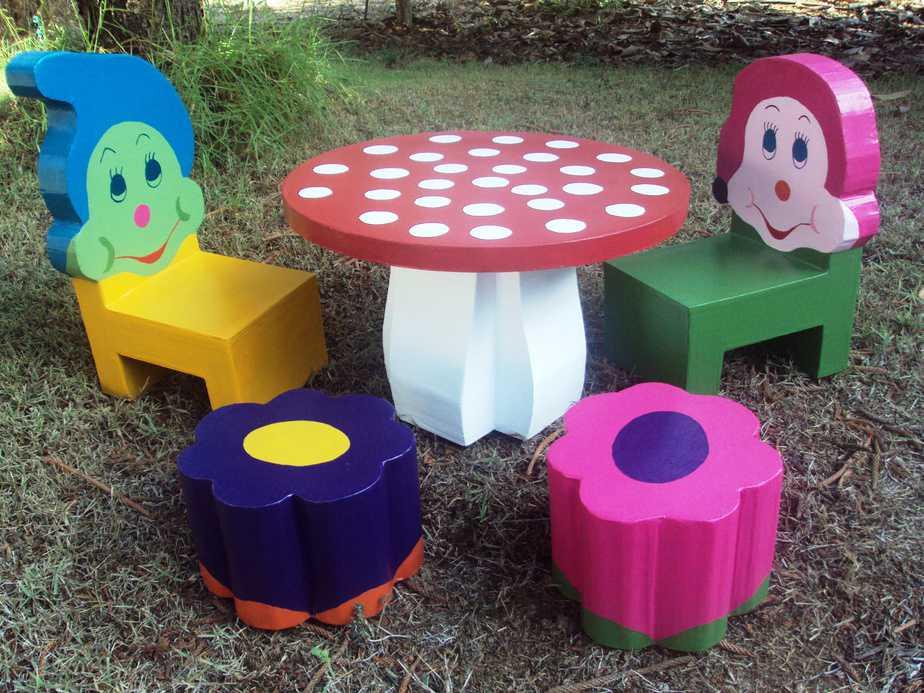 מערכת ישיבה לילדים מקרטון
