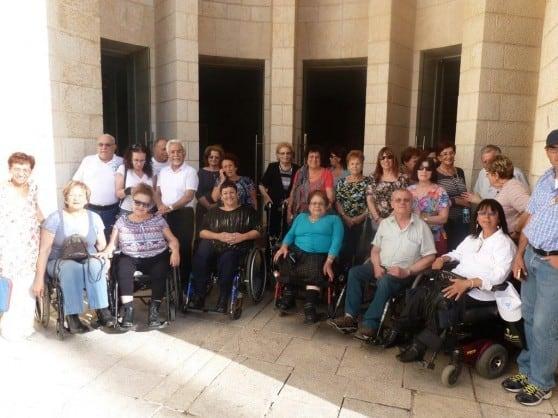 חברי קהילה נגישה בטיול לירושלים