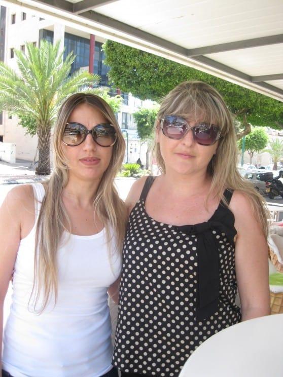מימין: סבטלנה ואידית