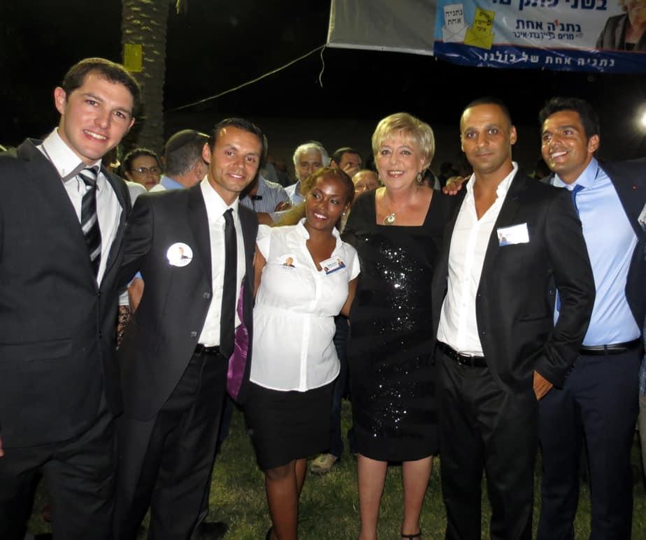 הנבחרת החדשה עם מרים פיירברג-איכר, צילום: רותי ברמן