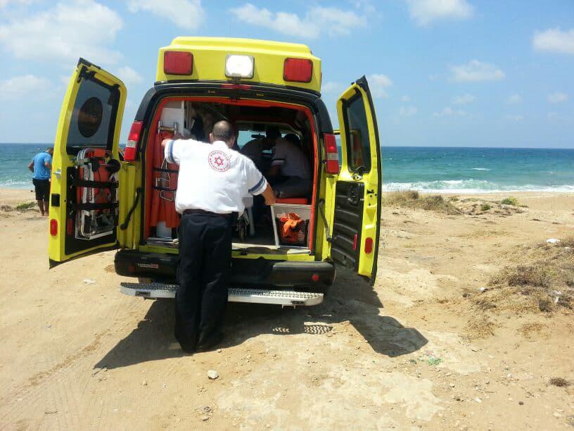 טביעה בחוף חצרות יסף