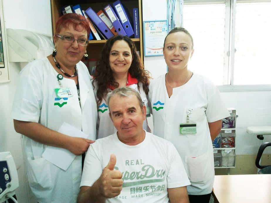 גרגורי דובין וצוות מרפאת הכללית (צילום: דוברות כללית)