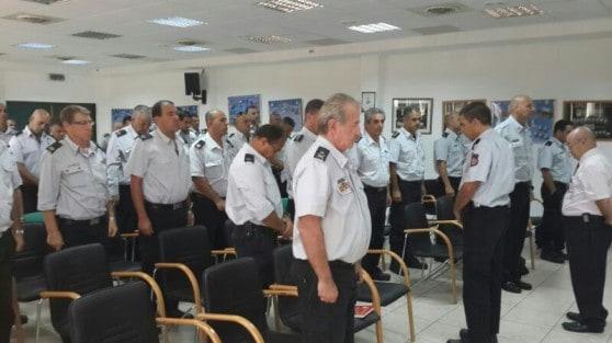 מכבדים את קורבות ה-11 בספטמבר (צילום: דוברות תחנת חיפה)