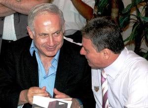 חיים אביטן עם ראש הממשלה נתניהו