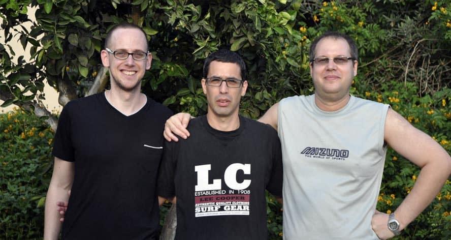 הסבה מקצועית. שלושת המורים (צילום: ישראל פרצ)