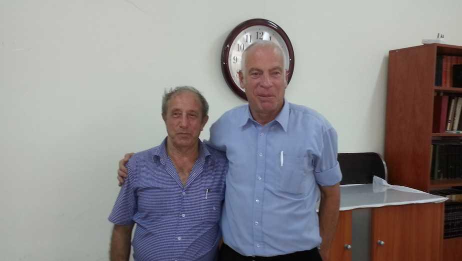 שר השיכון והבינוי אורי אריאל ואריה מיזלס (צילום: עצמי)