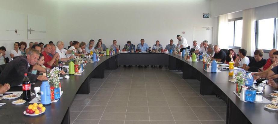 מליאת המועצה בישיבת אישור התקציב (צילום: אבי ברומברג)