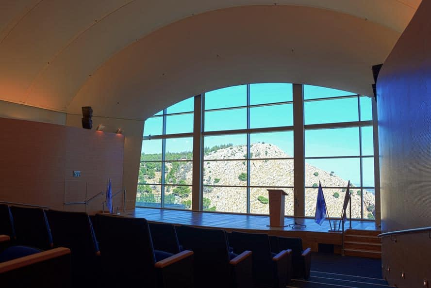 """האודיטוריום החדש בגן התעשייה בנצרת (צילום: יח""""צ)"""
