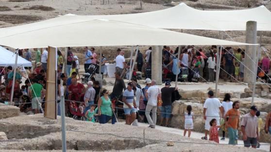 מברקים בפסטיבל אומנים ומלאכות קדומות בגן הלאומי ציפורי (צילום: גיא כהן)
