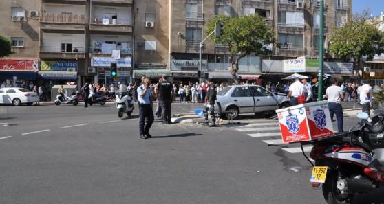 זירת התאונה (צילום: איציק בן שושן)