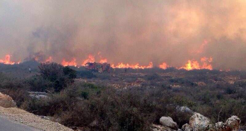 מוקד השריפה בכליל (צילום: פרטי)