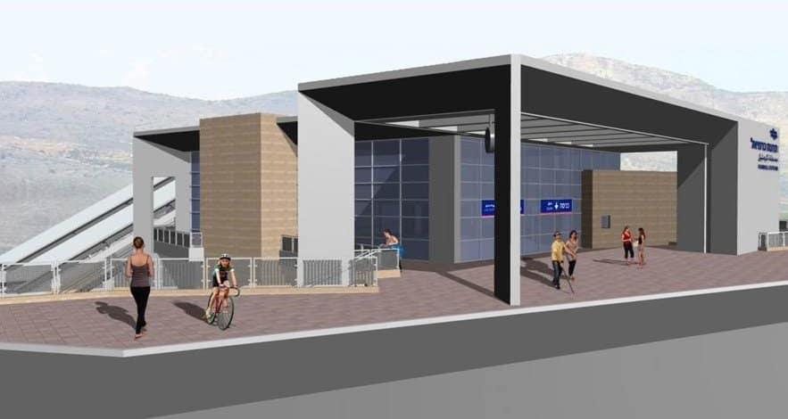 הדמיית תחנת הרכבת בכרמיאל (צילום: דוברות)