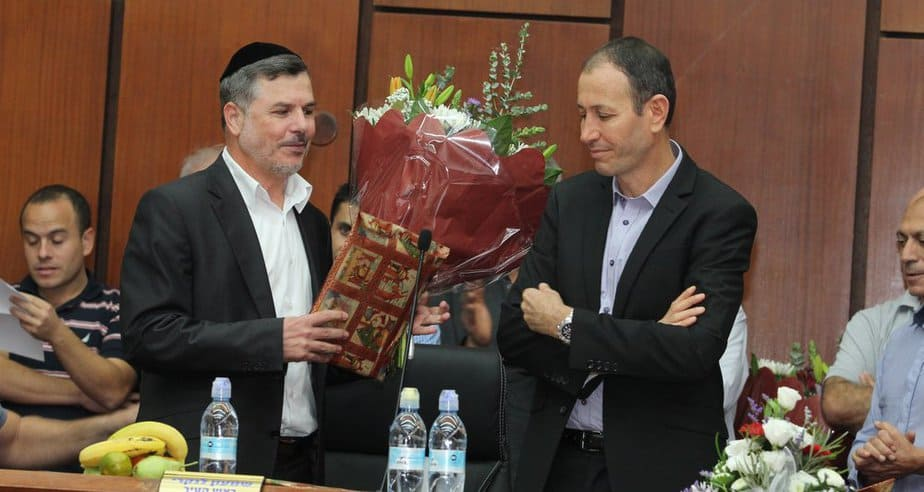 שמעון לנקרי במועצת העיר ה-14 (צילום: דוברות)