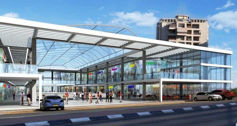 """המרכז המסרחי החדש ברחוב ברתנ""""ע (הדמיה עיריית חדרה)"""