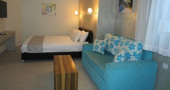אחד החדרים במלון בוטיק עלמה (צילום: רותי ברמן)