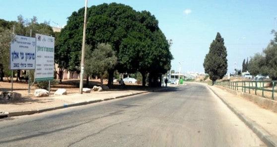 כביש טבעתי בשכונת גני אלון (צילום: עיריית חדרה)