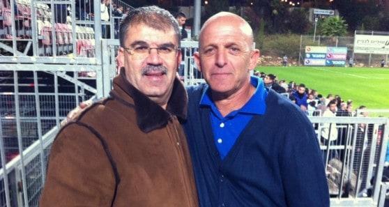 מאיר זנו וראפע סולימאן (צילום: יצחק סולומון)