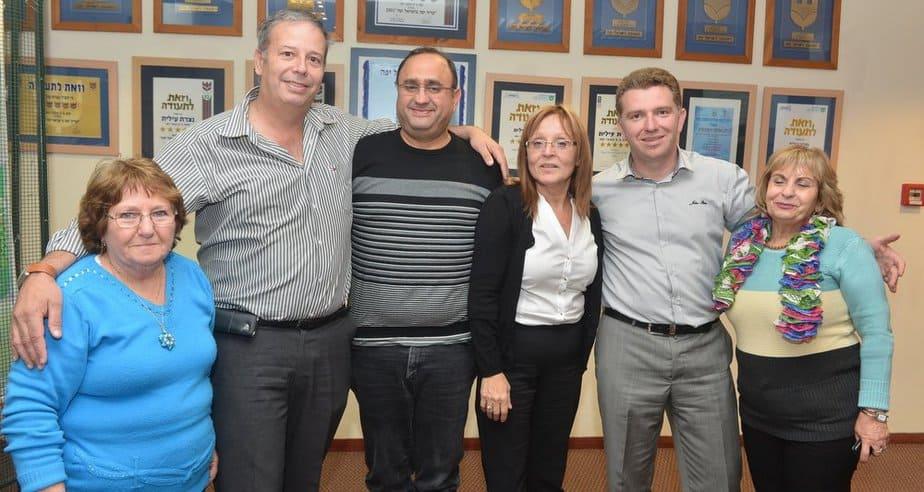 סימה חמו עם ראש עיריית נצרת עילית (צילום: עצמי)