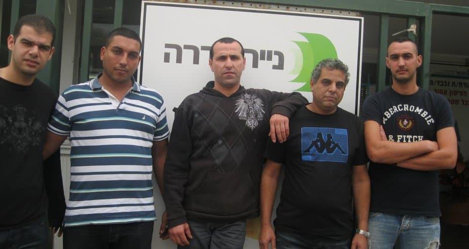 מושיקו לוי, אמיר שע'ר, עלאא מחאג'נה, חאדר איברהים וסמי גאווי (צילום: איילת קדם)