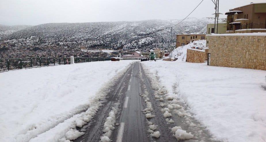 שלג בפקיעין (צילום: אושרי כהן)