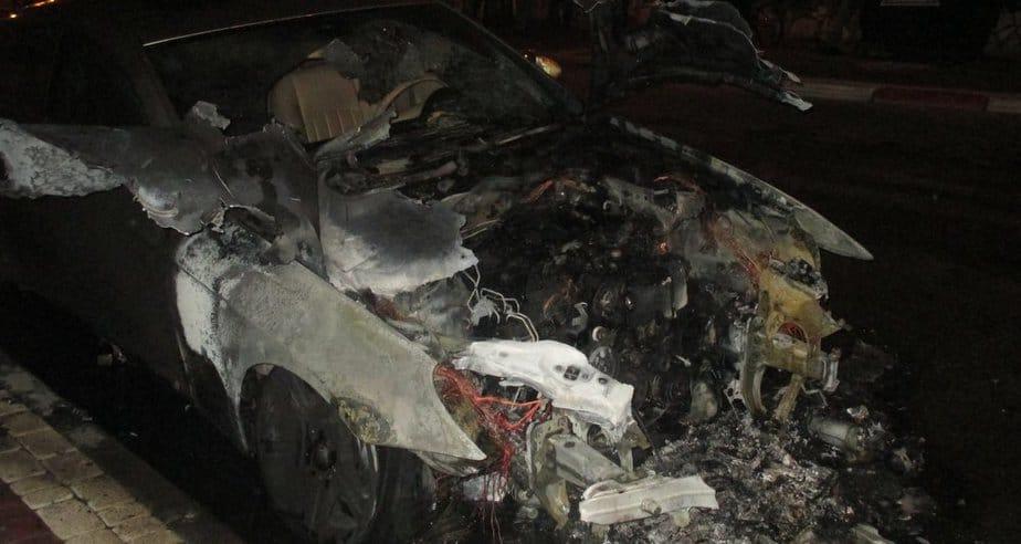 הרכב השרוף של אורן סודאי