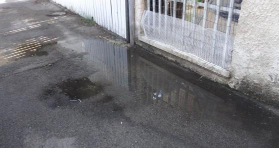 """""""אי אפשר להשאיר את החלון פתוח"""" ההצפה ברחוב דפנה (צילום: סיון הלפרין)"""