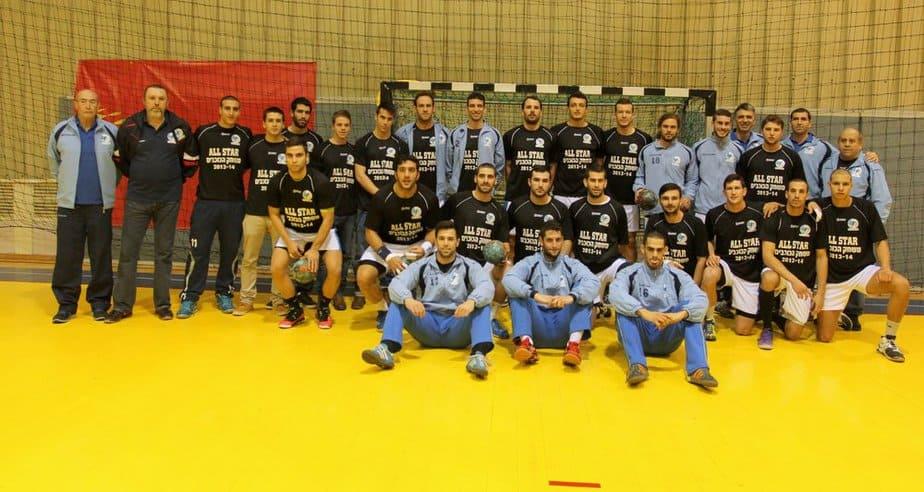 נבחרת ישראל בכדוריד (צילום: אדריאן הרבשטיין)