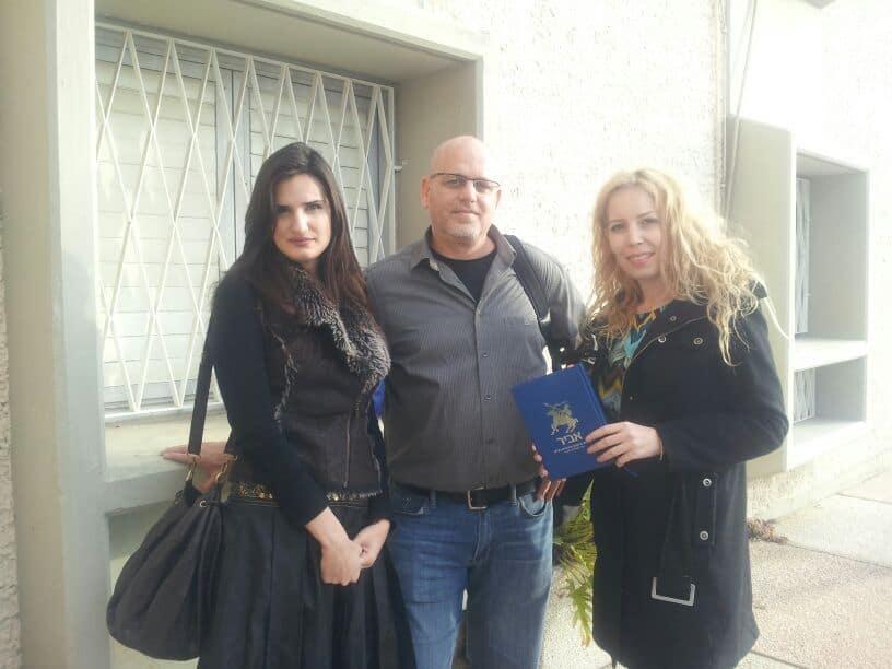 חני יפרח יחד עם מנכ״ל החברה, יניר מלך
