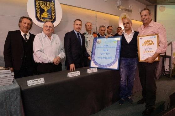 טקס קבל הפרס על תחזוקת המקלטים בנצרת עילית