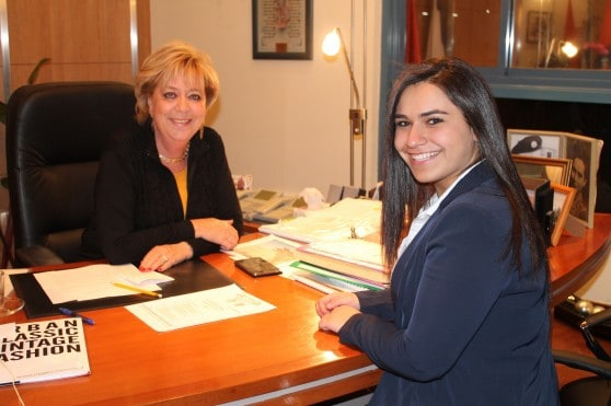 טל פדידה וראש העירייה מרים פיירברג איכר  (צילום: רן אליהו)