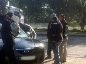 עובדים זרים בתחנת נתניה (צילום: עצמי)